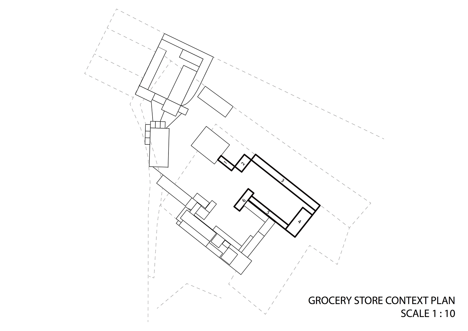Grocery store context plan